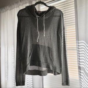 Heather Gray Lightweight Sweater-Like Sweatshirt